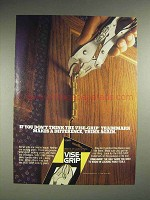 1987 Vise-Grip Locking Pliers Tool Ad - Think Again