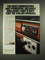 1987 Honda EM 3500X Generator Ad - Powerful, Reliable