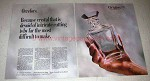 1987 Orrefors Crystal Decanter Ad - Edward Hald
