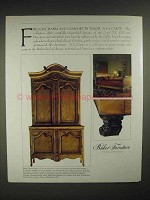 1986 Baker A La Carte collection Furniture Ad - Charm