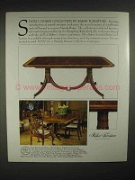 1986 Baker Stately homes collection Furniture Ad - Table