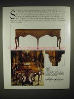 1986 Baker Stately homes collection Furniture Ad