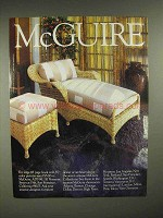 1986 McGuire Furniture Ad - Chaise Lounge Chair