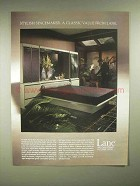 1986 Lane Monreale Bedwall Bed Ad - Stylish Spacemaker