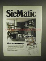 1986 SieMatic 9009 ML kitchen Cabinets Ad