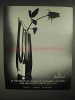 1986 Baccarat Crystal Vase Ad - At Service of Monarchs