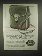 1986 Dooney & Bourke Cavalry Scout Bag Ad