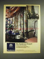 1985 Sanderson Fabrics & Wallcoverings Ad - Bouquet
