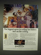 1984 Casablanca Inteli-Touch Fan Ad - Biggest News in history