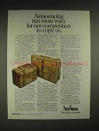 1984 Hartmann Luggage Ad - Ten More Ways to Copy