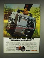 1983 Honda EX 800 Generator Ad - 800 Watts of Power