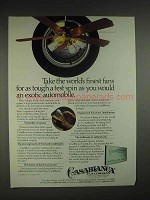 1983 Casablanca Gallery Edition Panama 5 Fan Ad