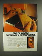 1982 Black & Decker Drill-powered Band Saw Ad