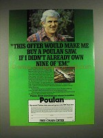 1982 Poulan Chainsaw Ad - Ron Hartill