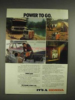 1982 Honda EM-500 portable generator Advertisement - Power to Go