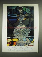 1982 Waterford Crystal Decanter Ad