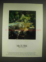 1980 McGuire Willow collection Furniture Ad