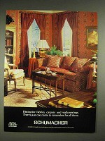 1980 Schumacher Fabrics, Carpets, Wallcoverings Ad