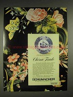 1980 Schumacher Fabrics Ad - China Trade