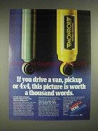 1980 Monroe Magnum Shock Ad - This Picture is Worth