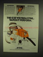 1980 Stihl 028WB chainsaw Ad - Watch it Perform