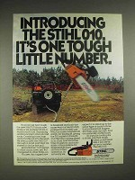 1980 Stihl 010 chainsaw Ad - One Tough Little Number