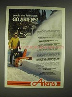 1980 Ariens Sno-Throw Ad - People Who Know Snow