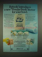 1980 Johnson Wax Befresh Powder Fresh Deodorizer Ad