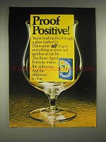1980 All Dishwasher Detergent Ad - Proof Positive