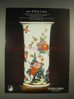1980 Lenox Saxony Vase China Ad - Circa 1725 by Lenox