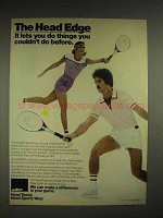 1980 AMF Edge Racquet Ad - The Head Edge
