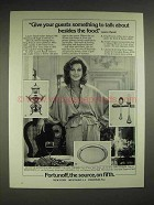 1980 Fortunoff Silver Ad - Lauren Bacall