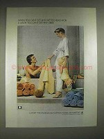 1979 Martex Luxor Towel Ad - Can't Get Any Wetter