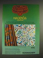 1979 Schumacher Hacienda collection Fabrics Ad
