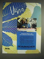 1979 Schumacher Vera Fabrics, Rugs, Wallcoverings Ad