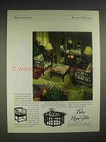 1979 Baker Rattan Collection Furniture Ad