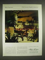 1979 Baker 17th Century English Collection Furniture Ad