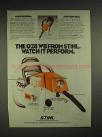 1979 Stihl 028WB Chainsaw Ad - Watch it Perform