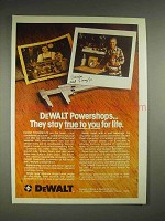 1979 DeWalt Powershop Ad - True to You for Life