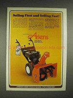 1979 Ariens Sno-Thro Ad - Selling First and Fast