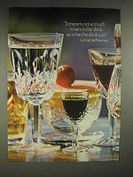 1978 Waterford Crystal Stemware Ad - What Drink is In