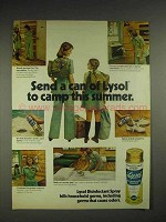 1978 Lysol Disinfectant Spray Ad - Send To Camp