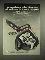 1977 McCulloch Mini Mac 35 chainsaw Ad - Features