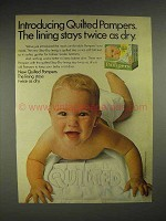1977 Quilted Pampers Diapers - Stays Twice as Dry