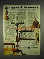 1977 Rockwell International Gap Bed Wood Lathe Ad