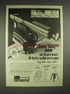 1977 Sears Craftsman 10-inch radial arm saw Ad