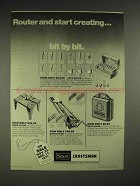 1977 Sears Craftsman Router Accessories Ad - Bit by Bit