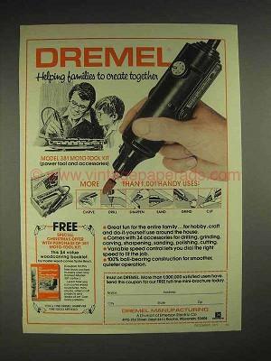 1977 Dremel Model 381 Moto-tool Kit Ad - Create
