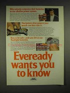 1977 Eveready Batteries Ad - Alkaline Power System