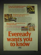 1977 Eveready Rechargeable Batteries Ad